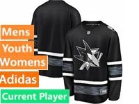 Mens Women Youth Adidas San Jose Sharks Current Player Black 2019 All Star Jersey