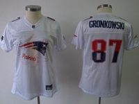 Women New England Patriots #87 Rob Gronkowski White Fashion Elite Jersey