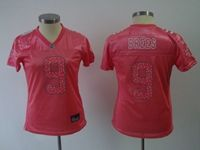 Women Nfl New Orleans Saints #9 Drew Brees Pink Elite Jersey Spots On The Number