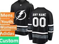 Mens Women Youth Adidas Tampa Bay Lightning Black Custom Made 2019 All Star Jersey