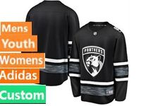 Mens Women Youth Adidas Florida Panthers Black Custom Made 2019 All Star Jersey