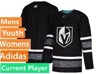 Mens Women Youth Adidas Vegas Golden Knights Black Current Player 2019 All Star Jersey