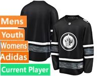 Mens Women Youth Adidas Winnipeg Jets Black Current Player 2019 All Star Jersey