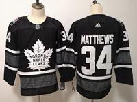 Mens Adidas Nhl Toronto Maple Leafs #34 Auston Matthews Black 2019 All Star Jersey