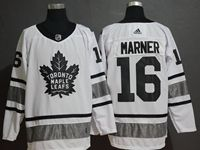 Mens Adidas Nhl Toronto Maple Leafs #16 Mitch Marner White 2019 All Star Jersey