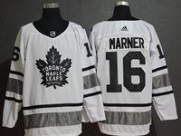 Mens Adidas Nhl Toronto Maple Leafs #16 Mitch Marner White 2019 All Star Jersey