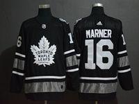 Mens Adidas Nhl Toronto Maple Leafs #16 Mitch Marner Black 2019 All Star Jersey