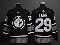 Mens Adidas Nhl Winnipeg Jets #29 Patrik Laine Black 2019 All Star Jersey