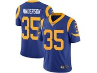 Mens Nfl St. Louis Rams #35 C.j. Anderson Light Blue 2019 Super Bowl Liii Bound Vapor Untouchable Limited Nike Jersey