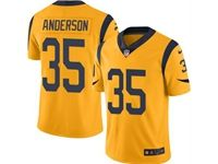 Mens Nfl St. Louis Rams #35 C.j. Anderson Gold 2019 Super Bowl Liii Bound Vapor Untouchable Limited Nike Jersey