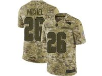 Mens Nfl New England Patriots #26 Sony Michel Camo Salute To Service Limited Jersey