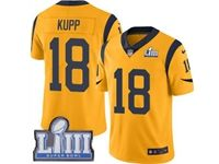 Mens Nfl Los Angeles Rams #18 Cooper Kupp Gold 2019 Super Bowl Liii Bound Vapor Untouchable Limited Jersey