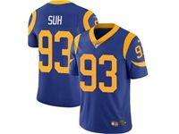 Mens Nfl Los Angeles Rams #93 Ndamukong Suh Blue 2019 Super Bowl Liii Bound Vapor Untouchable Limited Jersey