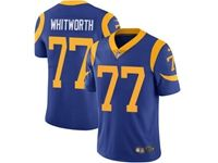 Mens Nfl Los Angeles Rams #77 Andrew Whitworth Blue 2019 Super Bowl Liii Bound Vapor Untouchable Limited Jersey