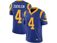 Mens Nfl Los Angeles Rams #4 Greg Zuerlein Blue 2019 Super Bowl Liii Bound Vapor Untouchable Limited Jersey