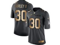 Mens Nfl Los Angeles Rams #30 Todd Gurley Ii Black Gold Number Salute To Service Limited Jersey