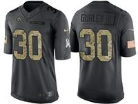 Mens Nfl Los Angeles Rams #30 Todd Gurley Ii Black Camo Number Salute To Service Limited Jersey