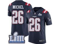 Mens New England Patriots #26 Sony Michel 2019 Super Bowl Liii Bound Vapor Untouchable Color Rush Limited Jersey