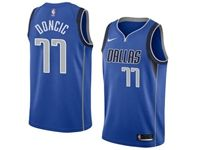 Youth 2018-19 Nba Dallas Mavericks #77 Luka Doncic Blue Nike Jersey