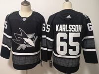 Mens Adidas Nhl San Jose Sharks #65 Erik Karlsson Black 2019 All Star Jersey