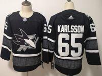 Mens Adidas Nhl San Jose Sharks #65 Erik Karlsson Black 2019 All Star Jersey