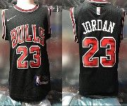 Kids Nba Nike Chicago Bulls #23 Michael Jordan Black Jersey