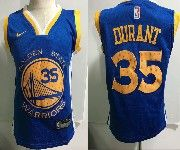 Kids Nba Nike Golden State Warriors #35 Kevin Durant Blue Jersey