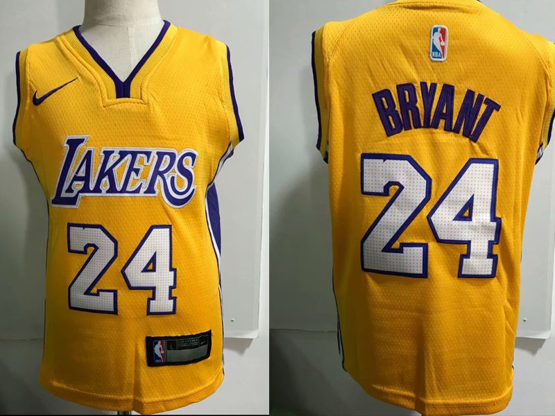 Kids Nba Nike Los Angeles Lakers #24 Kobe Bryant Gold Jersey