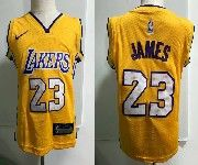 Kids Nba Nike Los Angeles Lakers #23 Lebron James Gold Jersey