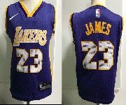 Kids Nba Nike Los Angeles Lakers #23 Lebron James Purple Jersey