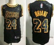 Kids Nba Nike Los Angeles Lakers #24 Kobe Bryant Black Nike City Authentic Jersey