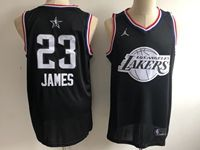 Mens Nba Los Angeles Lakers #23 Lebron James Black 2019 All-star Jordan Brand Swingman Jersey