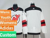 Mens Women Youth Nhl New Jersey Devils Custom Made White Adidas Jersey