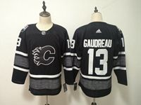 Mens Nhl Calgary Flames #13 Johnny Gaudreau Adidas Black 2019 All Star Jersey