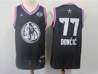 Mens Nba Dallas Mavericks #77 Luka Doncic Black 2019 All-star Jordan Brand Swingman Jersey