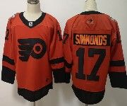 Mens Philadelphia Flyers #17 Wayne Simmonds Orange 2019 Stadium Series Adidas Jersey