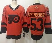 Mens Philadelphia Flyers #53 Shayne Gostisbehere Orange 2019 Stadium Series Adidas Jersey