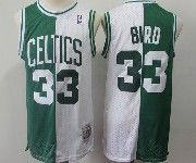 Mens Nba Boston Celtics Bathing Ape #33 Larry Bird Green And White Mitchell&ness Jersey