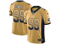 Mens Nfl Los Angeles Rams #99 Aaron Donald 2018 Drift Fashion Gold Vapor Untouchable Limited Jersey