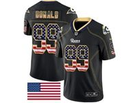 Mens Nfl Los Angeles Rams #99 Aaron Donald 2018 Usa Flag Fashion Black Vapor Untouchable Limited Jersey