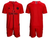 Mens 18-19 Soccer Paris Saint Germain ( Custom Made ) Red Short Sleeve Suit Jersey