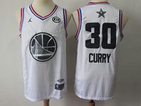 Mens Nba 2019 All Star Golden State Warriors #30 Stephen Curry White Jersey