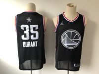 Mens Nba Golden State Warriors #35 Kevin Durant Black 2019 All-star Jordan Brand Swingman Jersey