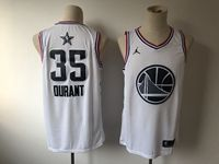 Mens Nba Golden State Warriors #35 Kevin Durant White 2019 All-star Jordan Brand Swingman Jersey