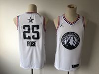 Mens Nba Minnesota Timberwolves #25 Derrick Rose White 2019 All-star Jordan Brand Swingman Jersey