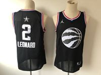 Mens Nba Toronto Raptors #2 Kawhi Leonard Black 2019 All-star Jordan Brand Swingman Jersey