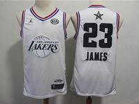 Mens Nba Los Angeles Lakers #23 Lebron James White 2019 All-star Jordan Brand Swingman Jersey