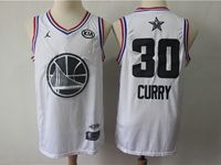 Mens Nba Golden State Warriors #30 Stephen Curry White 2019 All-star Jordan Brand Swingman Jersey