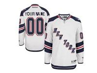 Nhl Reebok New York Rangers Custom Made White Jersey