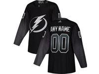 Mens  Nhl Tampa Bay Lightning Blank Black Alternate Breakaway Player Jersey